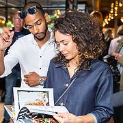NLD/Amsterdam/20160606 - Boekpresentatie Foodtalk van Kim Feenstra, Fajah Lourens en partner Igor Neves