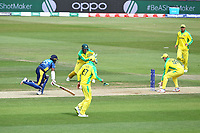 Cricket - 2019 ICC Cricket World Cup warm ups - Australia vs. Sri Lanka<br /> <br /> Alex Carey of Australia rolls the ball for an easy run out of Kusal Perera of Sri Lanka only to miss the stumps completely during the cricket world cup warm up match at the Hampshire Bowl Southampton England<br /> <br /> COLORSPORT/SHAUN BOGGUST