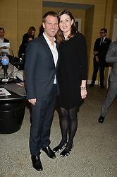BEN LATHAM-JONES and AMANDA BERRY at the Lancôme BAFTA Dinner held at The Cafe Royal, Regent's Street, London on 6th February 2015.