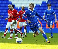 St Andrews Birmingham City  v Nottingham Forest  (1-2) Championship 25/02/2012<br /> Birmingham City debut for Norwegian Erik Huseklepp<br /> <br /> norway only