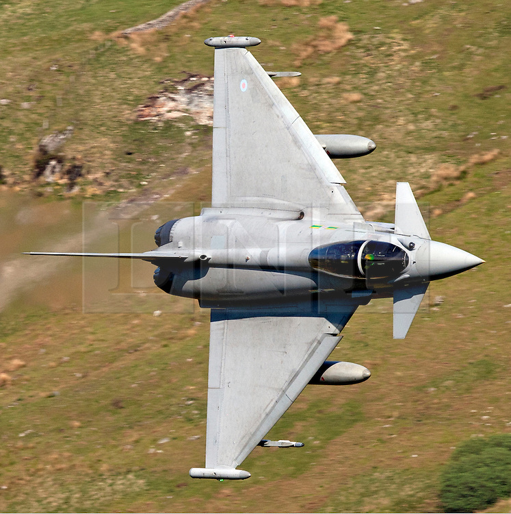"""© London News Pictures FILE PICTURE. The Typhoon F2. 18/03/11. UK, French and US warplanes are set to go into action over Libya after the UN backed """"all necessary measures"""", short of an invasion, to protect civilians. Photo credit should read Ian Schofield/London News Pictures"""