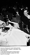 Henrietta Thompson's hand. Falklands Ball. Grosvenor House. London. 2 November 1982. Film. 82816f8<br /> © Copyright Photograph by Dafydd Jones. 66 Stockwell Park Rd. London SW9 0DA. Tel 0171 733 0108
