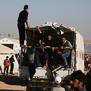 Residents fleeing Mosul arrive at a camp for Internally Displaced People inKhazir Camp Iraq. Thousands of Iraqis have been forced to flee their homes since the offensive began on October 17.