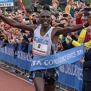 20-10-2019: Atletiek: TCS Amsterdam Marathon: Amsterdam,  finish Olympische Stadion, Vincent Kipchumba (KEN), winner of the marathon