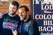 SHOT 12/10/17 11:45:39 AM - Former Buffalo Bills wide receiver and Hall of Fame player Andre Reed signs autographs and meets with fans at LoDo's Bar and Grill in Denver, Co. as the Buffalo Bills played the Indianapolis Colts that Sunday. Reed played wide receiver in the National Football League for 16 seasons, 15 with the Buffalo Bills and one with the Washington Redskins. (Photo by Marc Piscotty / © 2017)