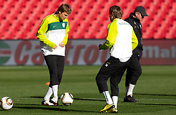 Nejc Pecnik, Zlatko Dedic of Slovenia and Head coach of Slovenia Matjaz Kek during training session at Ellis Park on June 17, 2010 in Johannesburg, South Africa. Slovenia will play their next FIFA World Cup Group C match against USA at Ellis Park in on Friday June 18, 2010, in Johannesburg, South Africa. (Photo by Vid Ponikvar / Sportida)