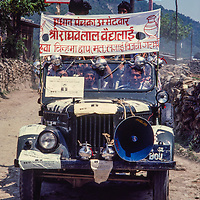 An election campaign, Nepal