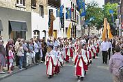 Nederland, Maastricht, 3-7-2011De Sint Servaas processie, de Heiligdomsvaart, wordt een maal in de zeven jaar gehouden.Foto: Flip Franssen