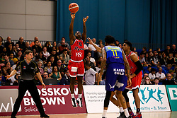 Jalan McCloud of Bristol Flyers scores a three pointer - Photo mandatory by-line: Robbie Stephenson/JMP - 29/03/2019 - BASKETBALL - English Institute of Sport - Sheffield, England - Sheffield Sharks v Bristol Flyers - British Basketball League Championship