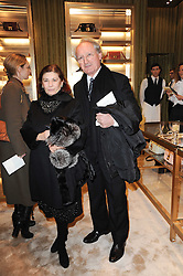 MARINA PRADA and her husband PROF.BRUNO DANIELI at a Cocktail party to celebrate the opening of the new Miu Miu boutique, 150 New Bond Street, London hosted by Miuccia Prada and Patrizio Bertelli on 3rd December 2010.