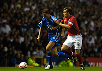 Photo: Daniel Hambury.<br />England v Greece. International Friendly. 16/08/2006.<br />England's John Terry and Greece's Angelos Charisteas battle.