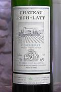 Red wine 2005. Chateau Pech-Latt. Near Ribaute. Les Corbieres. Languedoc. France. Europe. Bottle.