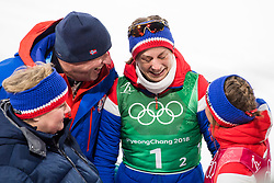 February 17, 2018 - Pyeongchang, SOUTH KOREA - 180217 Astrid Uhrenholdt Jacobsen of Norway, Gold, in tears after the WomenÃ•s Cross Country Skiing 4x5 km Relay during day eight of the 2018 Winter Olympics on February 17, 2018 in Pyeongchang..Photo: Petter Arvidson / BILDBYRN / kod PA / 87632 (Credit Image: © Petter Arvidson/Bildbyran via ZUMA Press)