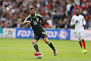 Joe Ledley of Wales in action.Euro 2016, group B , England v Wales at Stade Bollaert -Delelis  in Lens, France on Thursday 16th June 2016, pic by  Andrew Orchard, Andrew Orchard sports photography.