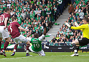 The William Hill Scottish FA Cup Final 2012 Hibernian Football Club v Heart Of Midlothian Football Club..19-05-12...Hearts Darren Barr opens the scoring         during the William Hill Scottish FA Cup Final 2012 between (SPL) Scottish Premier League clubs Hibernian FC and Heart Of Midlothian FC. It's the first all Edinburgh Final since 1986 which Hearts won 3-1. Hearts bid to win the trophy since their last victory in 2006, and Hibs aim to win the Scottish Cup for the first time since 1902....At The Scottish National Stadium, Hampden Park, Glasgow...Picture Mark Davison/ ProLens PhotoAgency/ PLPA.Saturday 19th May 2012.
