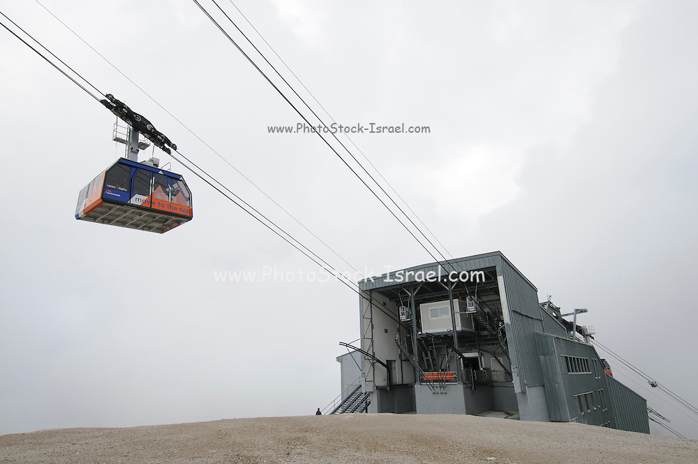 Mount Marmolada in northeastern Italy. The highest mountain of the Dolomites The Cable car upper station