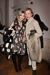 Nikita Andrinova and Henry Conway at Fashion Parade by Sadia Siddiqui dedicated to Asian couture held at One Marylebone, London England. 6 February 2017.