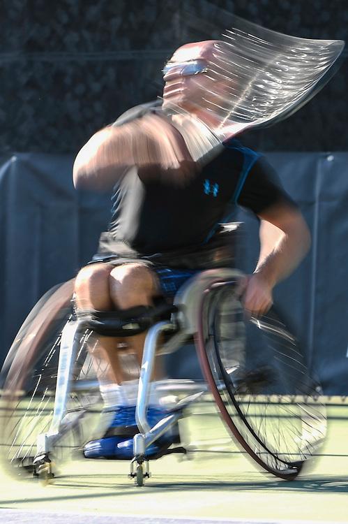 during Wheelchair Masters tennis at , Mission Viejo, California, USA on November 03, 2016. Photo: Bill Baum