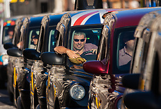 2015-09-30 London taxi drivers strike against unfair regulation