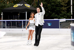 Melody Thornton (left) and Alexander Demetriou during the press launch for the upcoming series of Dancing On Ice at the Natural History Museum Ice Rink in London. Picture date: Tuesday December 18, 2018. Photo credit should read: David Parry/PA Wire
