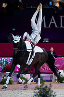 Vaulter Francesco Bortoletto and his horse Rosenstolz during Madrid Horse Week at Ifema in Madrid, Spain. November 26, 2017. (ALTERPHOTOS/Borja B.Hojas)
