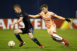 December 13, 2018 - Zagreb, Croatia - ZAGREB, CROATIA - DECEMBER 13 : Andy Najar midfielder of Anderlecht and Dani Olmo midfielder of Dinamo Zagreb  pictured during the Europa League Group Stage - Group D match between Dinamo Zagreb and Rsc Anderlecht on december 13, 2018 in Zagreb, Croatia, 13/12/2018 (Credit Image: © Panoramic via ZUMA Press)