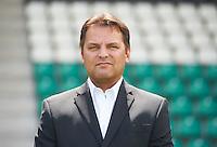 3. Fußball Bundesliga: Fototermin SC Preußen Münster für die Saison 2015/16 am 07.07.2015 im Preussenstadion in Münster (Nordrhein-Westfalen). Teammanger Harald Menzel. Foto: Bernd Thissen/dpa