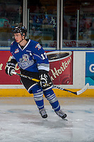KELOWNA, CANADA - DECEMBER 30: Tyler Soy #17 of the Victoria Royals warms up against the Kelowna Rockets on December 30, 2016 at Prospera Place in Kelowna, British Columbia, Canada.  (Photo by Marissa Baecker/Shoot the Breeze)  *** Local Caption ***