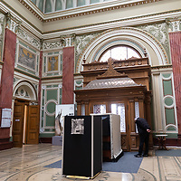 Art exhibition is seen in the 125 years old building of the Hall of Art in downtown Budapest, Hungary on May 18, 2021. ATTILA VOLGYI