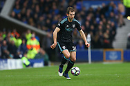 Craig Dawson of West Bromwich Albion in action. Premier league match, Everton v West Bromwich Albion at Goodison Park in Liverpool, Merseyside on Saturday 11th March 2017.<br /> pic by Chris Stading, Andrew Orchard sports photography.