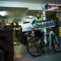 Joe Breeze, mountain bike pioneer and frame creator, Fairfax, California.