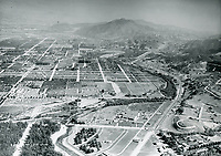 1929 Aerial view of Mack Sennett Studios in Studio City, CA