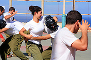 """Soldiers train with Krav Maga (""""contact combat"""", """"close combat"""" or """"full contact"""") is an eclectic hand-to-hand combat system developed in Israel that involves wrestling, grappling and striking techniques) at an Israeli military training camp."""