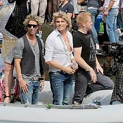 NLD/Amsterdam/20110806 - Canalpride Gaypride 2011, Hans klok en partner James Jackson Harwood