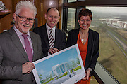 NO FEE PICTURES <br /> 14/2/16 Irish Life has announced that it plans to increase its presence in Dundalk, Co. Louth, with the building of a new Irish Life Customer Service Centre in Finnabair Business Park. The proposed new site area is 1.6 hectares with an office size of 45,000 sq. feet. The expansion announcement reinforces Irish Life's continued commitment to the local area and its employees based in Dundalk.<br /> Pictured is Fergus Dowd, Property Manager Irish Life, David Harney, Chief Excutive Irish Life and Aine Cassidy, Excutive Manager Financial Planning.  Arthur Carron