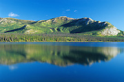 Reflection of the Ruby Ranges in Kluane Lake<br /> Kluane National Park<br /> Yukon<br /> Canada