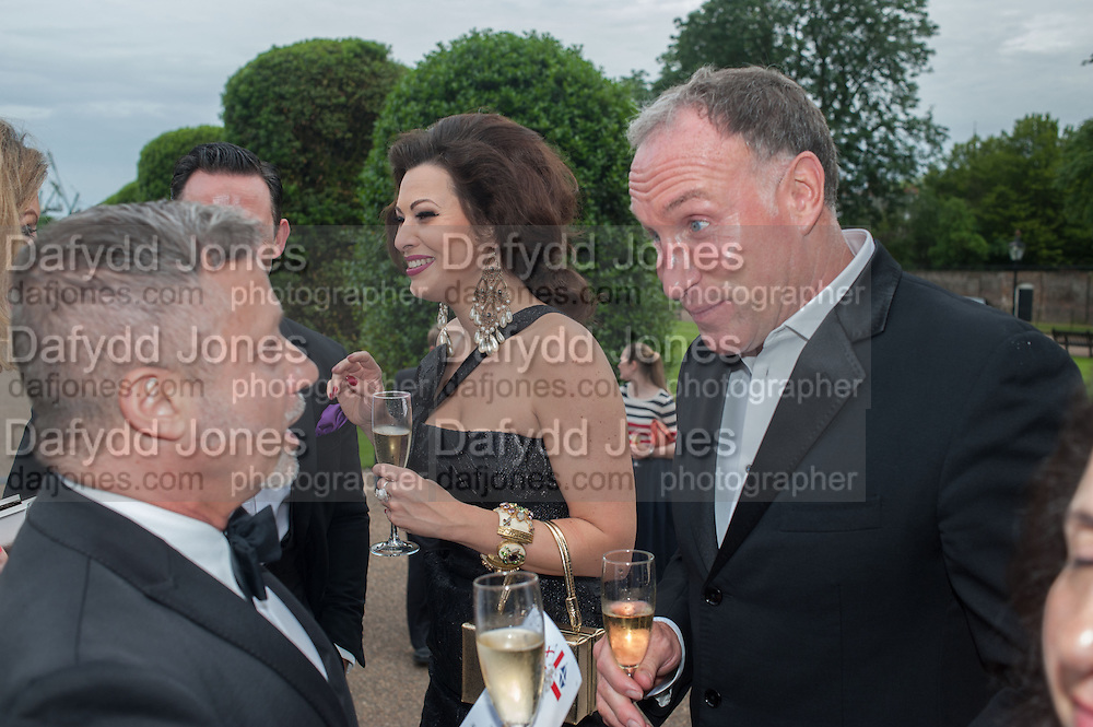 JACQUES AZAGURY; IMMODESTY BLAISE; GARY HALKYARD; , English National Ballet  evening of art, ballet and live performance inspired by Swan Lake, The Orangery, Kensington Palace London.  27 June 2012