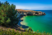 Black Rock Point and Cove, Santa Rosa Island, Channel Islands National Park, California USA
