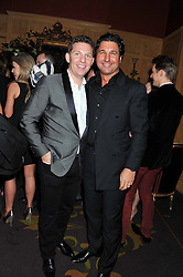 Left to right, NICK CANDY and GIORGIO VERONI at the 39th birthday party for Nick Candy in association with Ciroc Vodka held at 5 Cavindish Square, London on 21st Januatu 2012.
