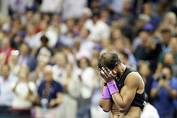 NEW YORK, Sept. 9, 2019  Rafael Nadal of Spain celebrates after the men's singles final match between Rafael Nadal of Spain and Daniil Medvedev of Russia at the 2019 US Open in New York, the United States, Sept. 8, 2019. (Credit Image: © Li Muzi/Xinhua via ZUMA Wire)