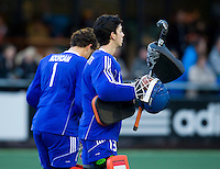 NAALDWIJK - Jan de Wijkerslooth tijdens de oefenwedstrijd van Jong Oranje heren tegen Belgie (3-3). Ter voorbereiding van het WK in India in december. COPYRIGHT KOEN SUYK