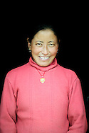India, Ladakh. Portrait of a smiling woman from Spangmik.
