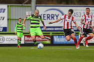 Forest Green Rovers Liam Noble(15) on the ball during the Vanarama National League match between Forest Green Rovers and Lincoln City at the New Lawn, Forest Green, United Kingdom on 19 November 2016. Photo by Shane Healey.