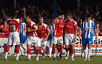 Photo: Ashley Pickering.<br /> Colchester United v Charlton Athletic. Coca Cola Championship. 15/09/2007.<br /> Zheng Zhi of Charlton (no. 5) celebrates scoring the equaliser