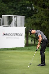 August 2, 2018 - Akron, OH, U.S. - AKRON, OH - AUGUST 02:  Henrik Stenson (SWE) putts on the 15th green during the first round of the WGC-Bridgestone Invitational on August 2, 2018 at the Firestone Country Club South Course in Akron, Ohio. (Photo by Shelley Lipton/Icon Sportswire) (Credit Image: © Shelley Lipton/Icon SMI via ZUMA Press)