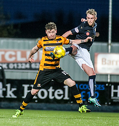 Alloa Athletic's Michael Doyle and Falkirk's Craig Sibbald. <br /> Falkirk 5 v 0 Alloa Athletic, Scottish Championship game played at The Falkirk Stadium. © Ross Schofield