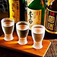 Sake Wine Flight, Taneko Japanese Tavern. Photo by N.Scott Trimble/Arizona Republic