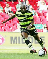 Celtic FC vs Al Ahly Wembley Cup 24/07/09<br /> Photo Nicky Hayes/Fotosports International<br /> Celtic striker Marc-Antoine Fortune in action.
