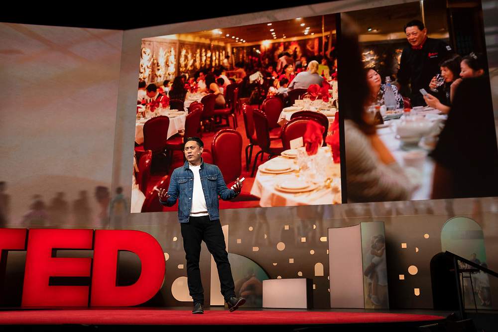 Jon M. Chu speaks at TED2019: Bigger Than Us. April 15 - 19, 2019, Vancouver, BC, Canada. Photo: Bret Hartman / TED