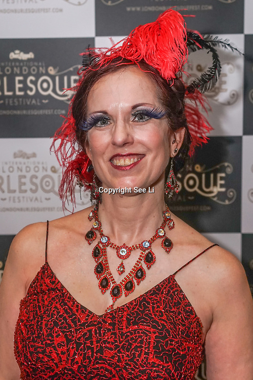 London,England,UK. 22th May 2017. Red Velvet *San Francisco, USA  preforms at the London Burlesque Festival 2017 - Tattoo Revue at Moth Club, Hackney,London,UK. by See Li